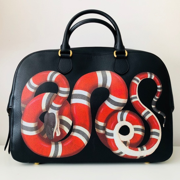35295ad69d0 Gucci King Snake leather bag NWT